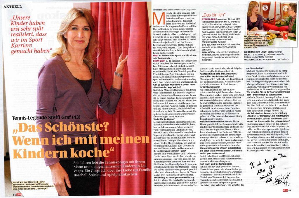 Interview Steffi Graf - tina - Frau Bremm schreibt