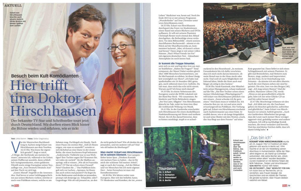 Interview Eckart von Hirschhausen - tina - Frau Bremm schreibt