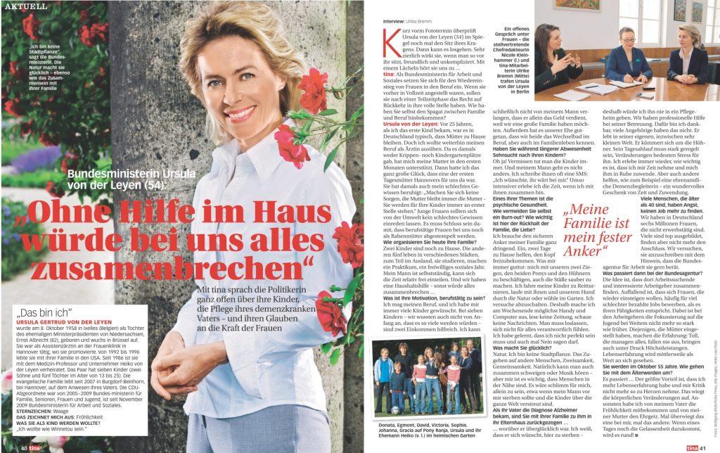 Interview Ursula von der Leyen - tina - Frau Bremm schreibt
