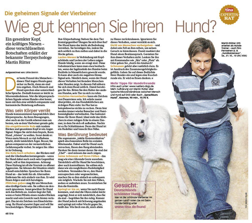 Martin Rütter über geheime Signale der Vierbeiner - tina - Frau Bremm schreibt