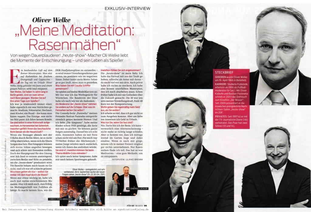 Interview Oliver Welke - Für Sie - Frau Bremm schreibt