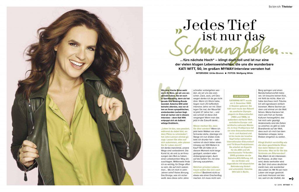Kati Witt (MYWAY) - Promi-Interview - Frau Bremm schreibt!