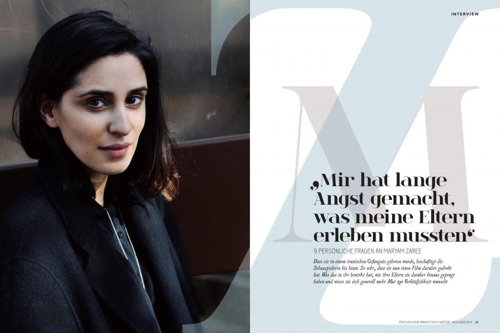 Maryam Zaree (Psychologie bringt dich weiter) - Promi-Interview - Frau Bremm schreibt!