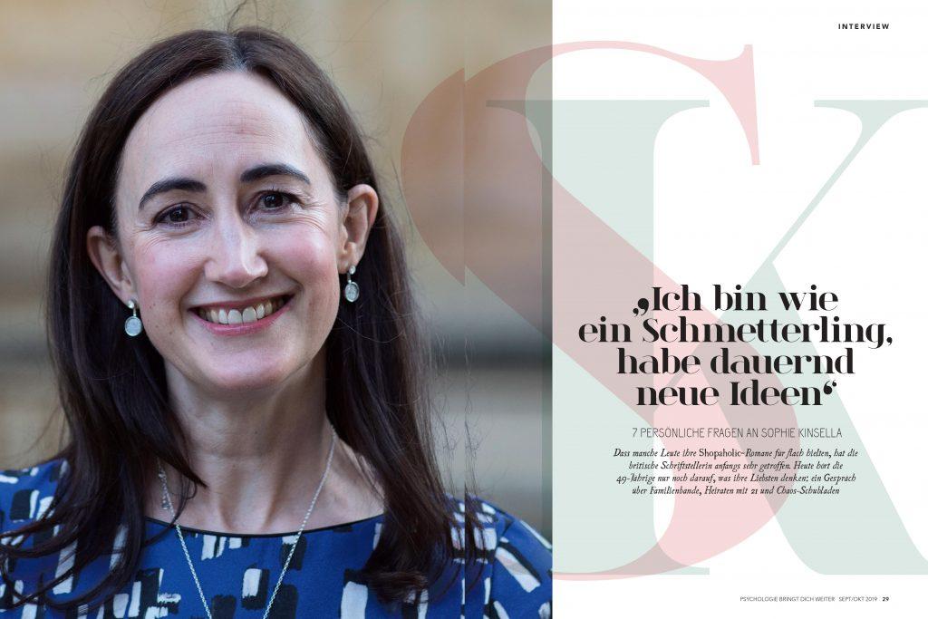 Sophie Kinsella (Psychologie bringt dich weiter) - Promi-Interview - Frau Bremm schreibt!
