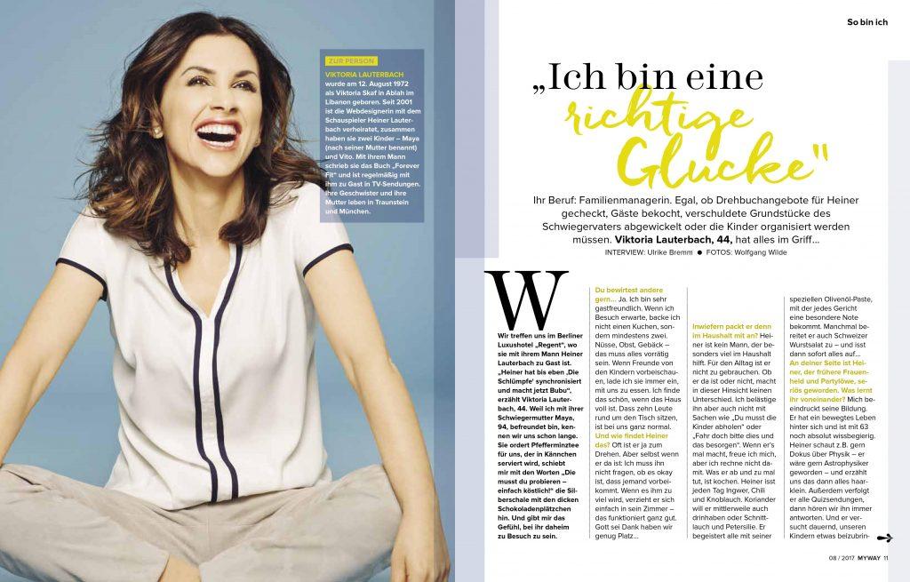 Viktoria Lauterbach (MYWAY) - Promi-Interview - Frau Bremm schreibt!