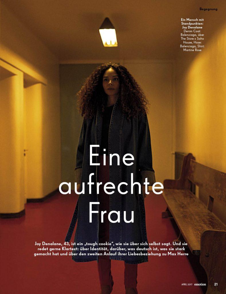 Joy Denalane (emotion) - Promi-Interview - Frau Bremm schreibt!
