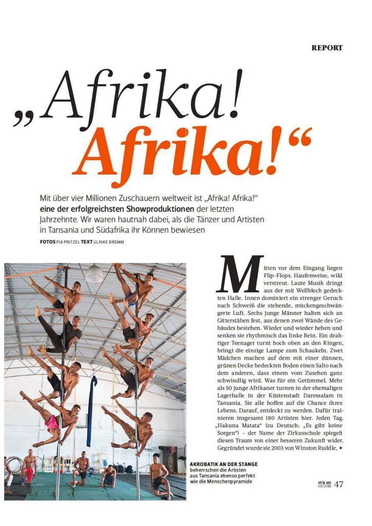 Afrika! Afrika! (Für Sie) - Service-Artikel - Frau Bremm schreibt!