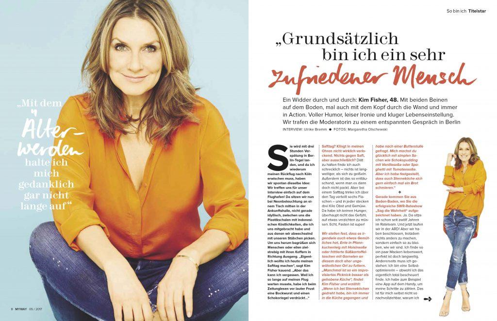 Kim Fisher (MYWAY) - Promi-Interview - Frau Bremm schreibt!