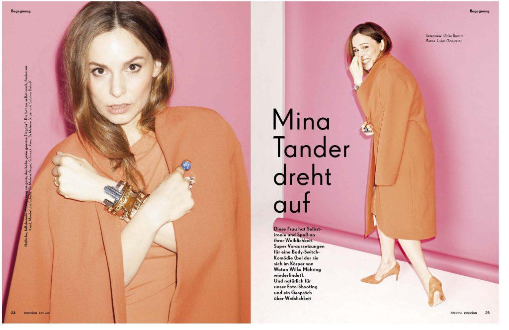 Mina Tander (emotion) - Promi-Interview - Frau Bremm schreibt!