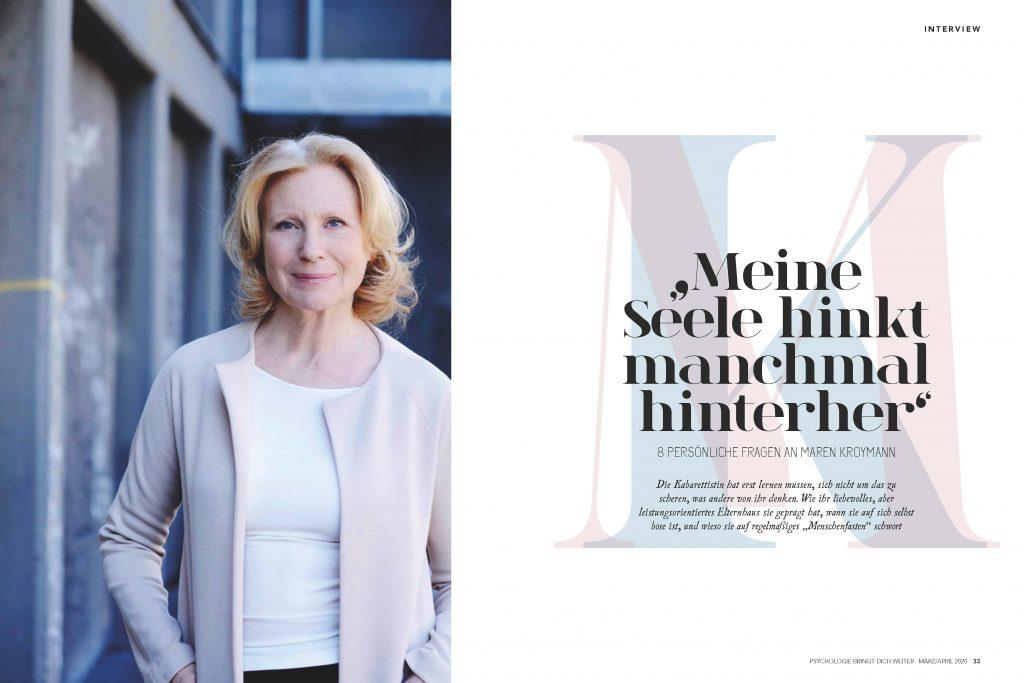Maren Kroymann (Psychologie bringt dich weiter) - Promi-Interview - Frau Bremm schreibt!