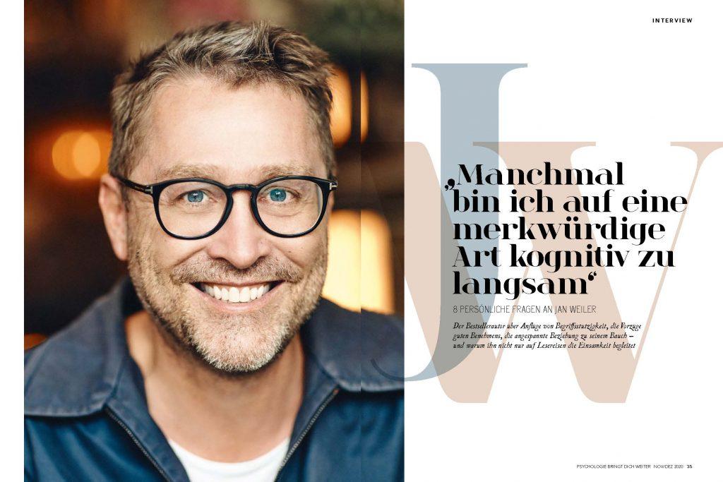 Jan Weiler (Psychologie bringt dich weiter) - Promi-Interview - Frau Bremm schreibt!