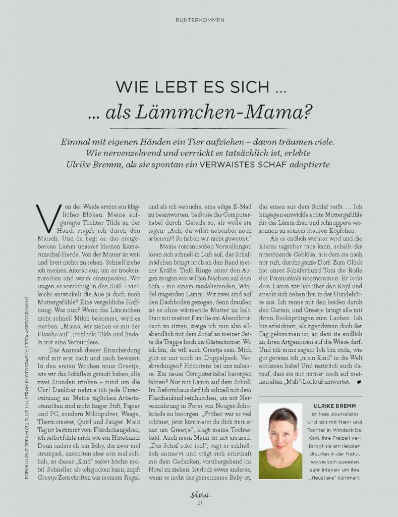 Wie lebt es sich als Lämmchen-Mama? (slow) - Service-Artikel - Frau Bremm schreibt!